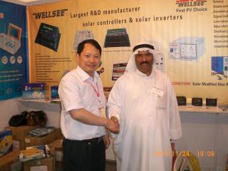 Mr Luo with Hassan on The 9th Chinese Commodities Fair, Sharjah