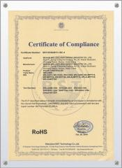 CE certificate for solar light controller